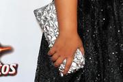 Madison De La Garza Metallic Clutch