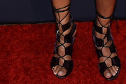 Taraji P. Henson Lace-Up Heels