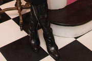 Wendy Diamond Knee High Boots