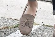 Lily Collins Tassel Loafers