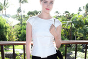 Evan Rachel Wood Fitted Blouse
