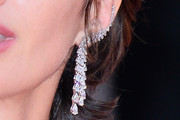 Paz Vega Diamond Chandelier Earrings