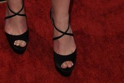 Dakota Fanning Platform Sandals