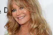 Goldie Hawn Medium Wavy Cut with Bangs
