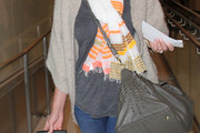 Katherine Heigl Studded Shoulder Bag
