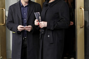 Anjelica Huston Wool Coat