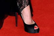 Lily-Rose Depp Peep Toe Pumps
