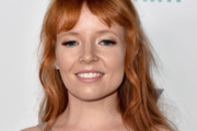 Stef Dawson Long Wavy Cut with Bangs