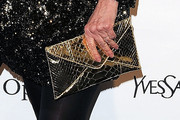 Bette Midler Metallic Clutch