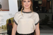 Leighton Meester Loose Blouse