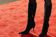 Camille Grammer Knee High Boots