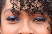 Yara Shahidi Metallic Eyeshadow