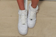 Kaia Gerber Leather Sneakers