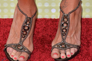 Denise Richards Strappy Sandals