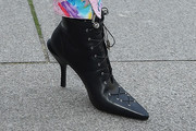 Noomi Rapace Lace Up Boots