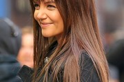 Katie Holmes Long Straight Cut with Bangs