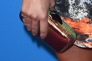 Emily Osment Metallic Clutch
