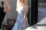 Elle Fanning Print Dress