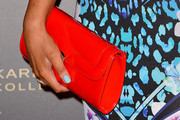 Emily Atack Patent Leather Clutch