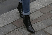 Emmanuelle Alt Lace Up Boots