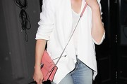 Elizabeth Banks Leather Shoulder Bag