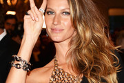 Gisele Bundchen Long Side Part
