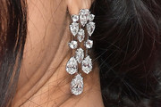 Salma Hayek Diamond Chandelier Earrings