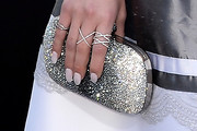 Claudia Lee Metallic Clutch