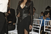Michelle Rodriguez Leather Dress