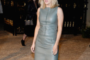 Ellie Goulding Leather Dress