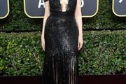 Geena Davis Fringed Dress