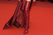 Amber Heard Over the Knee Boots