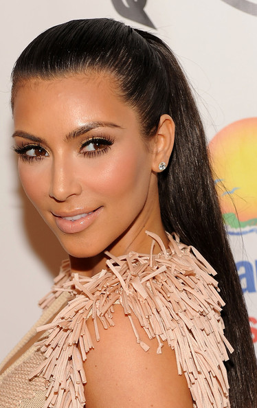 ponytail hairstyles pictures. Kim Kardashian 2010 Sleek Ponytail Hairstyles. Email