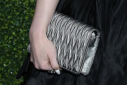 Madelaine Petsch Quilted Clutch
