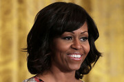 Michelle Obama Medium Wavy Cut