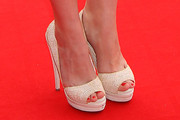 Michelle Ryan Peep Toe Pumps