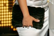 Tameka Cottle Feathered Clutch