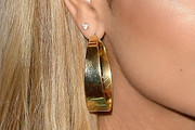Havana Brown Gold Hoops