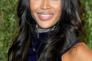 Naomi Campbell Long Curls with Bangs