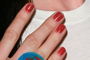 Rachel Nichols Red Nail Polish