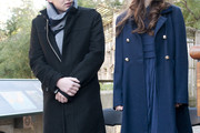 Georgie Henley Wool Coat