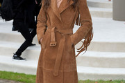 Elisa Sednaoui Leather Coat