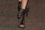 Adriana Lima Lace-Up Heels