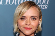 Christina Ricci Side Parted Straight Cut
