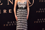 Sophie Turner Strapless Dress
