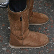 Selena Gomez High Top Sheepskin Boots