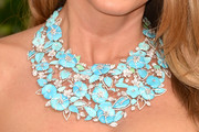 Sofia Vergara Flower Statement Necklace