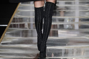 Irina Shayk Lace Up Boots