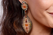 Maggie Q Dangle Decorative Earrings