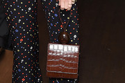 January Jones Leather Wristlet